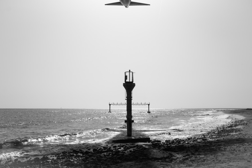Airplane approaching Lanzarote Airport