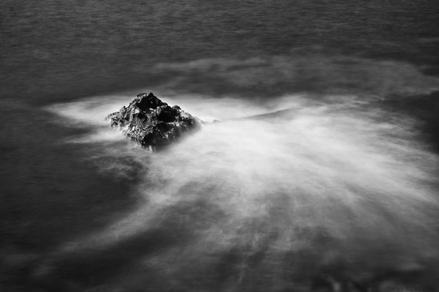 long exposure of lava rock