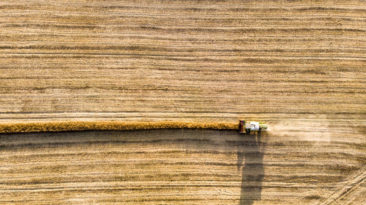harvester (aerial view)