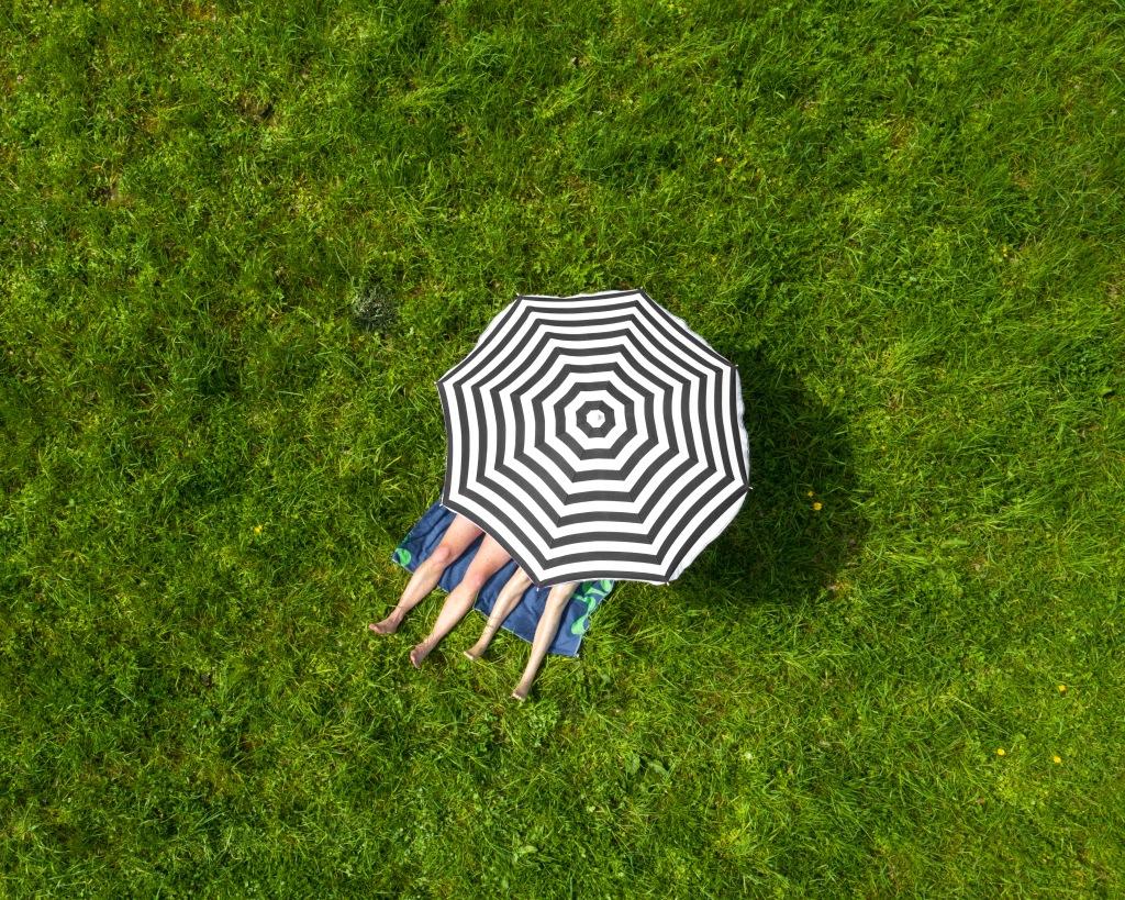 Sunbath under the Umbrella